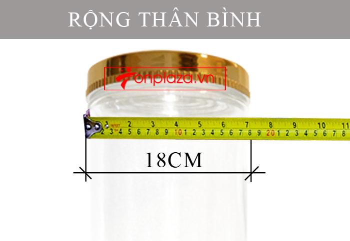 Bình sâm Ngọc Linh hình trụ 20 lit NS327 (loại 10 củ/kg) NS327 5