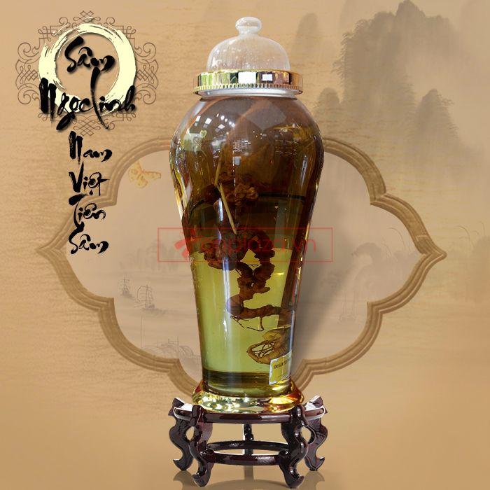 Bình ngâm sâm Ngọc Linh tươi tự nhiên loại 41L (2.3kg)
