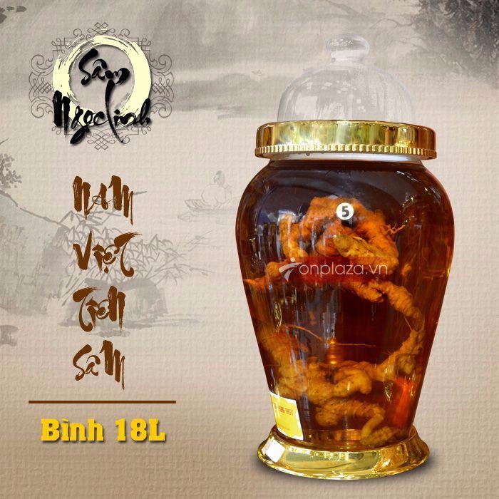 Bình ngâm sâm tươi Ngọc Linh đặc biệt số 5 dung tích 18L NS399