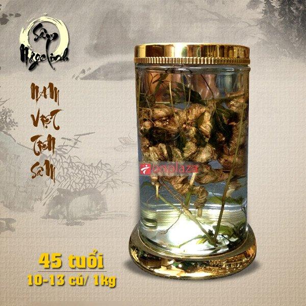 Bình sâm ngọc linh 45 năm tuổi loại 1kg 10 – 13 củNS187