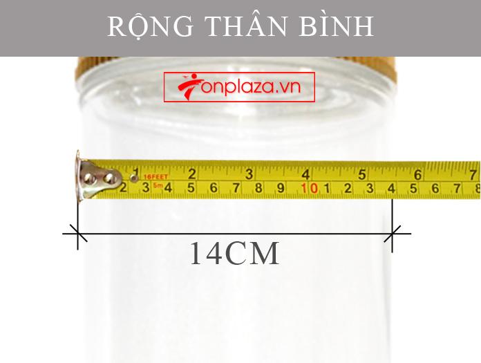 Bình sâm Ngọc Linh tươi kiểu dáng dáng trụ dài loại 15L NS400 5