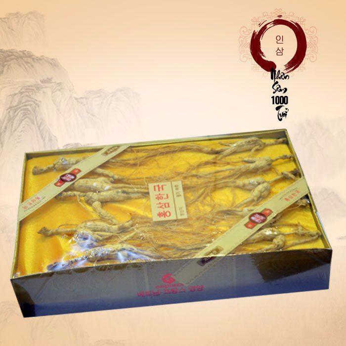 Nhân sâm núi nguyên củ tự nhiên Triều Tiên (hộp 8-10 củ) NS221