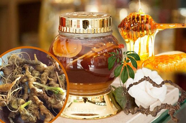 Sâm Ngọc Linh ngâm mật ong rừng rất tốt cho người sử dụng
