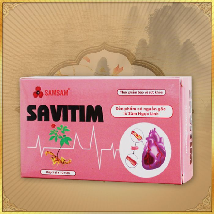 Savitim – Sâm ngọc linh tốt cho tim mạch