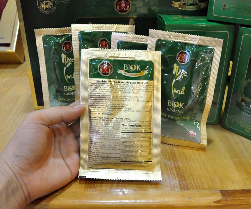 Tinh chất Sâm Ngọc Linh thượng hạng hộp 15 gói NS186 11