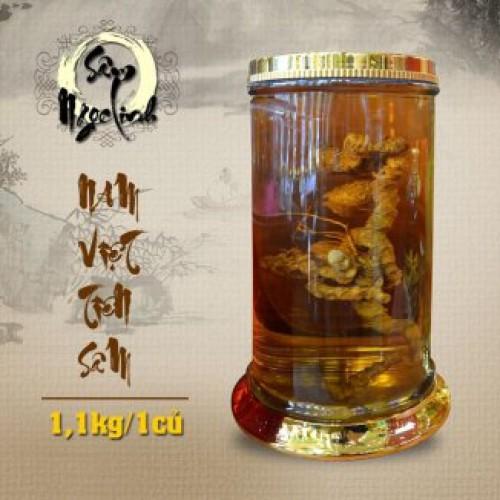 Bình sâm Ngọc Linh 28L (1 củ - 1.1kg) NS306